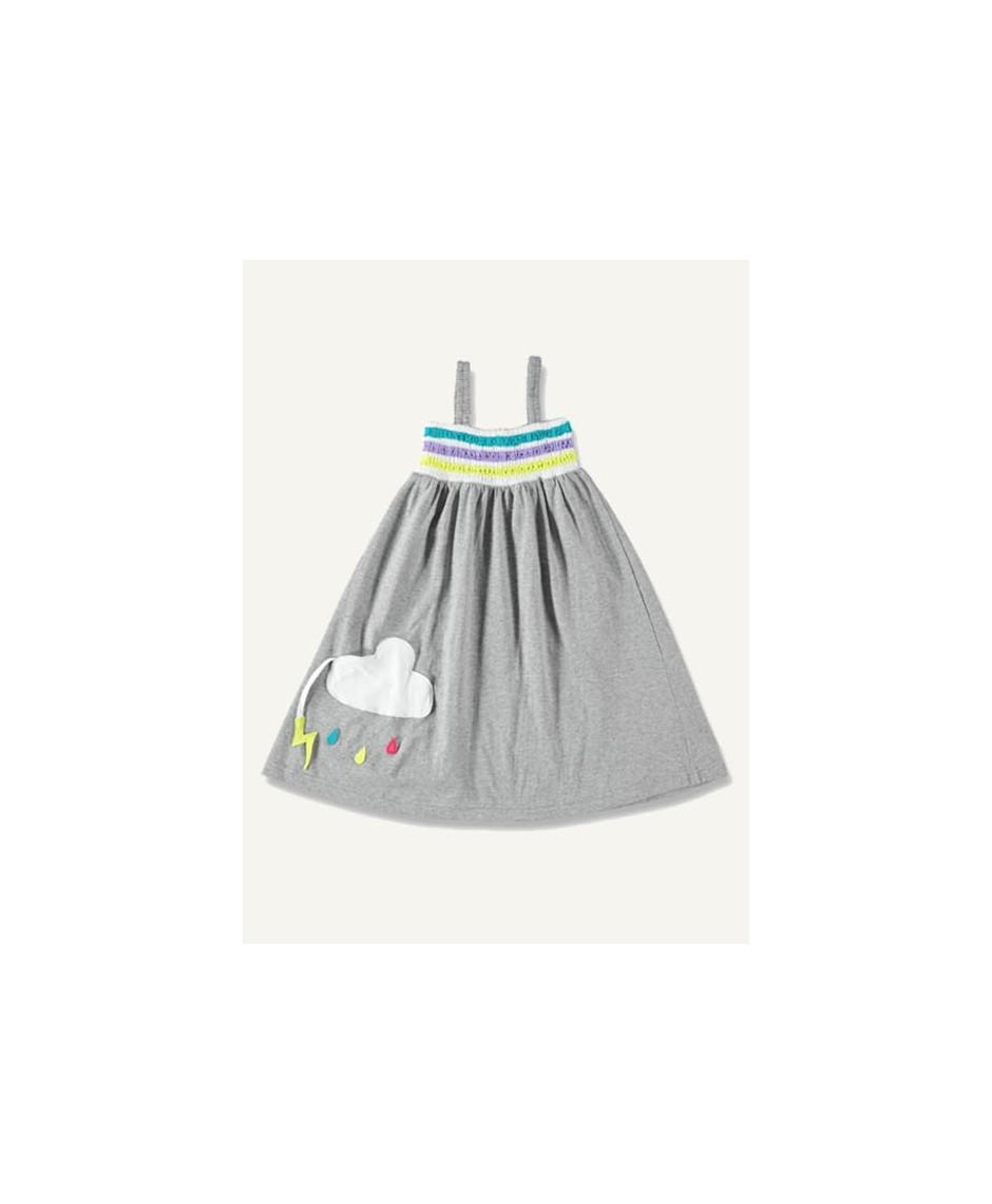 Rainbow dress - grey melange