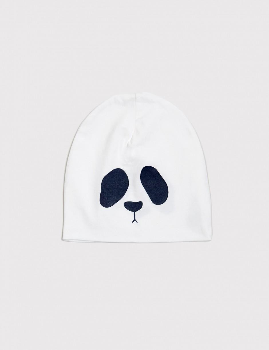 Panda Reversible Beanie White