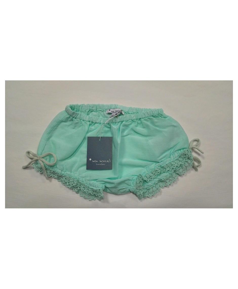 Culotte seda/algodón aqua