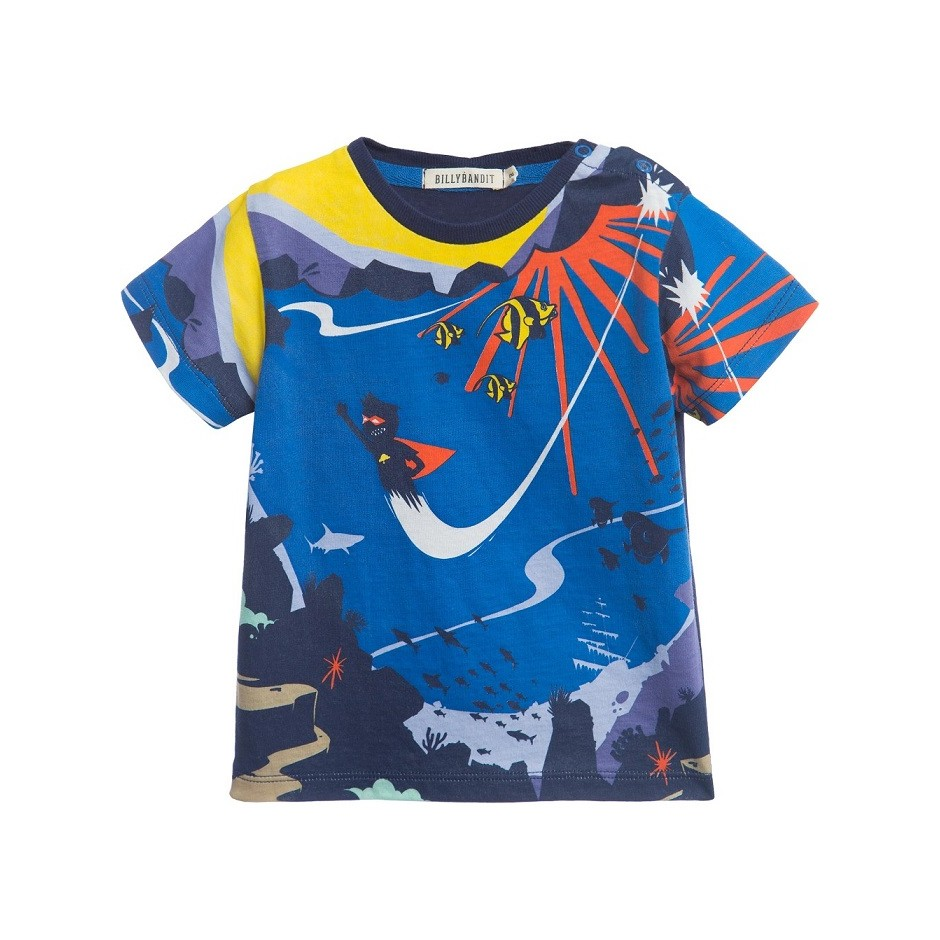 Camiseta Superhéroe Multicolor