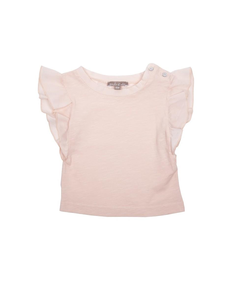 Camiseta Mangas Volantes / Rosa