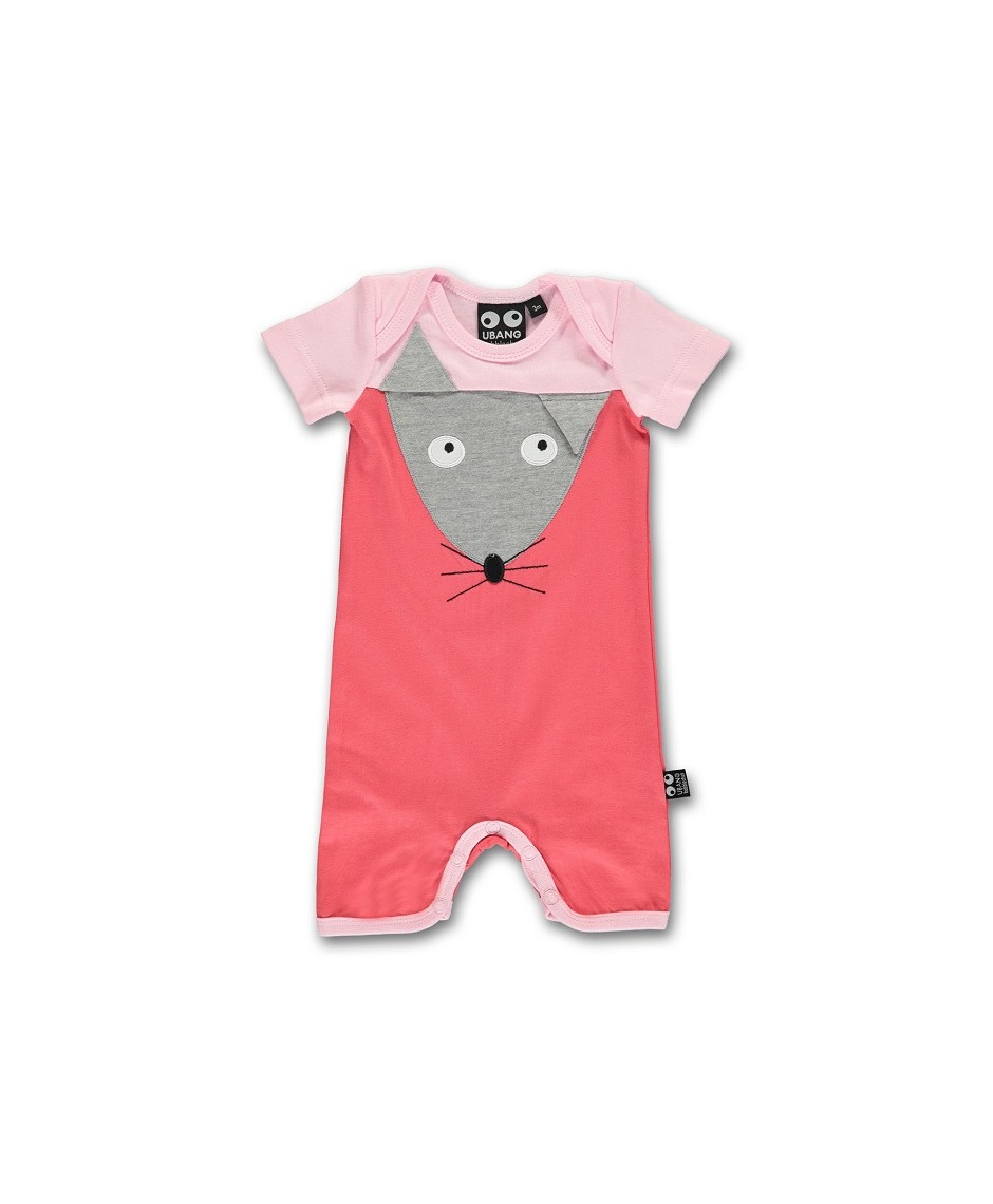 Babysuit Mouse/Rosa