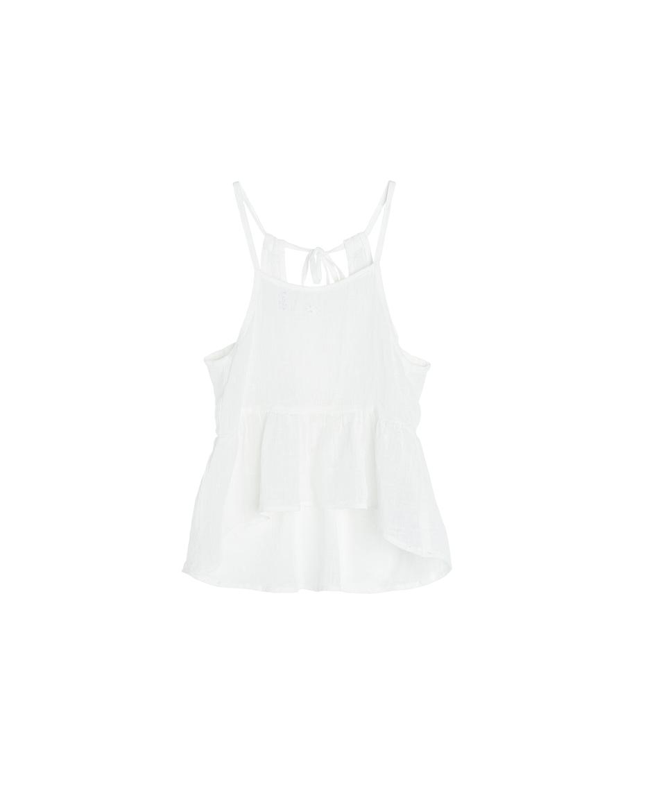 Vestido Lino Tirantes / Blanco