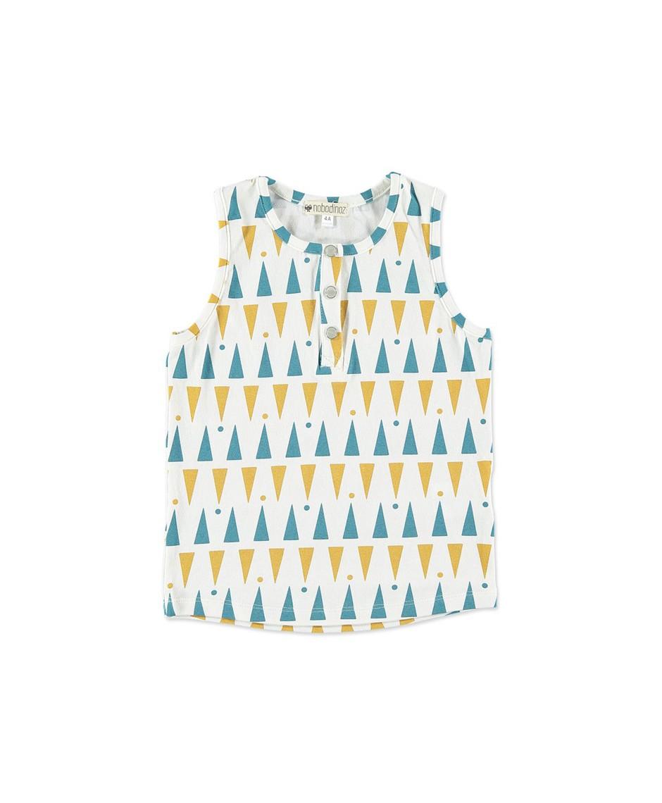 top kiwi kids triángulos azules y miel