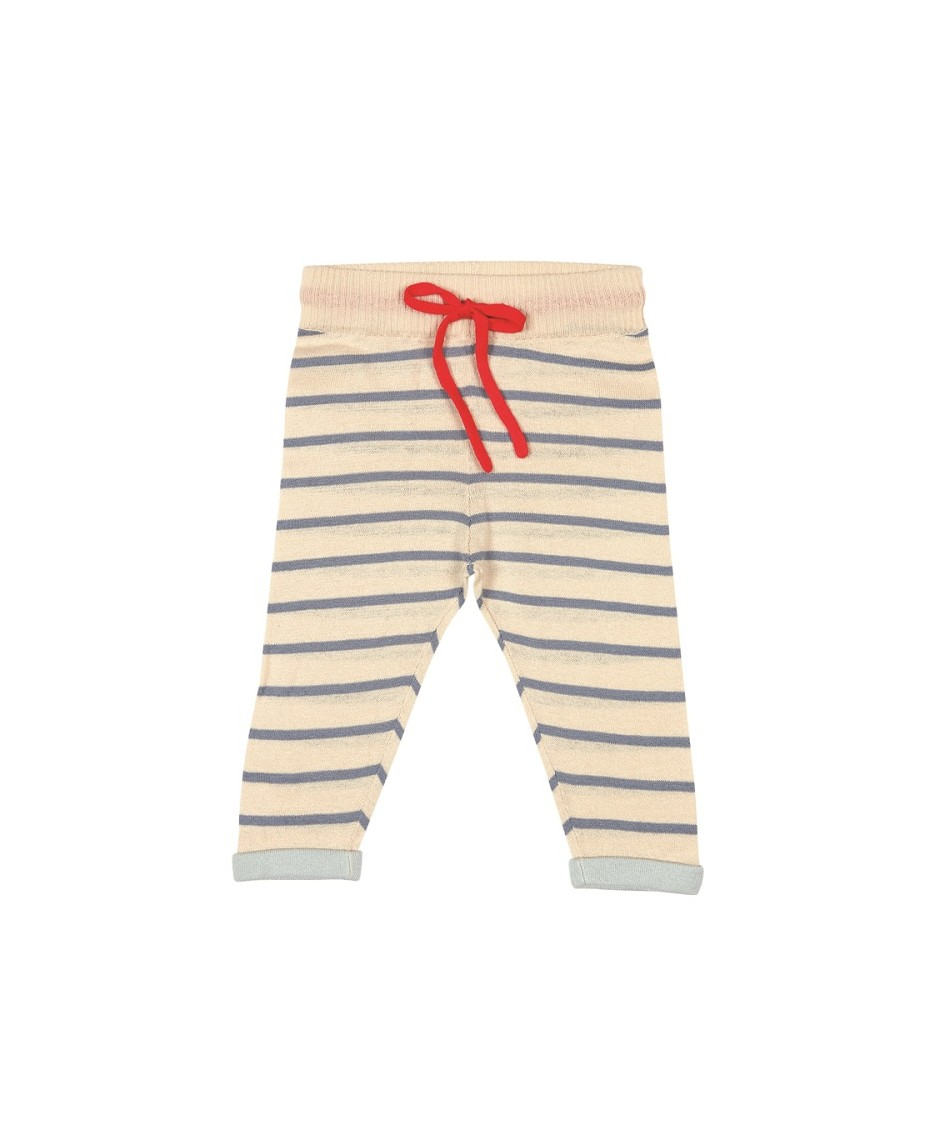 Baby Straight Pants ecru/denim blue