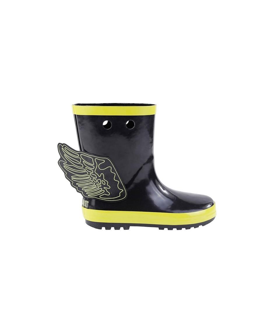 Botas de agua con alas de superhéroes