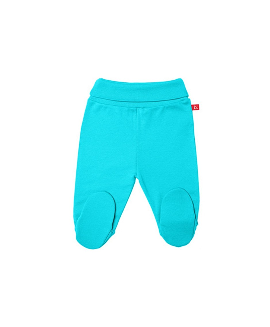 Pantalón con pies rib