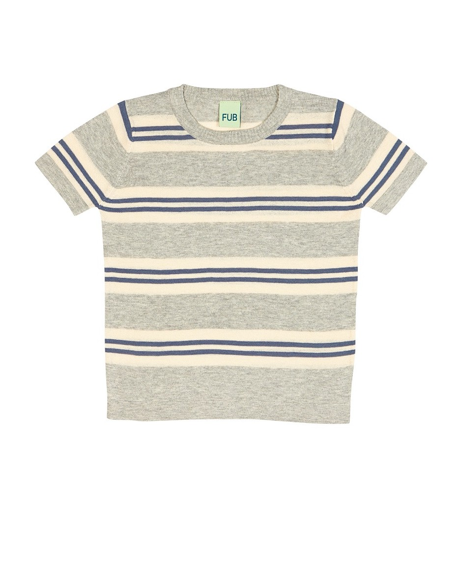 FUB T-SHIRT STRIPED ECRU DENIM