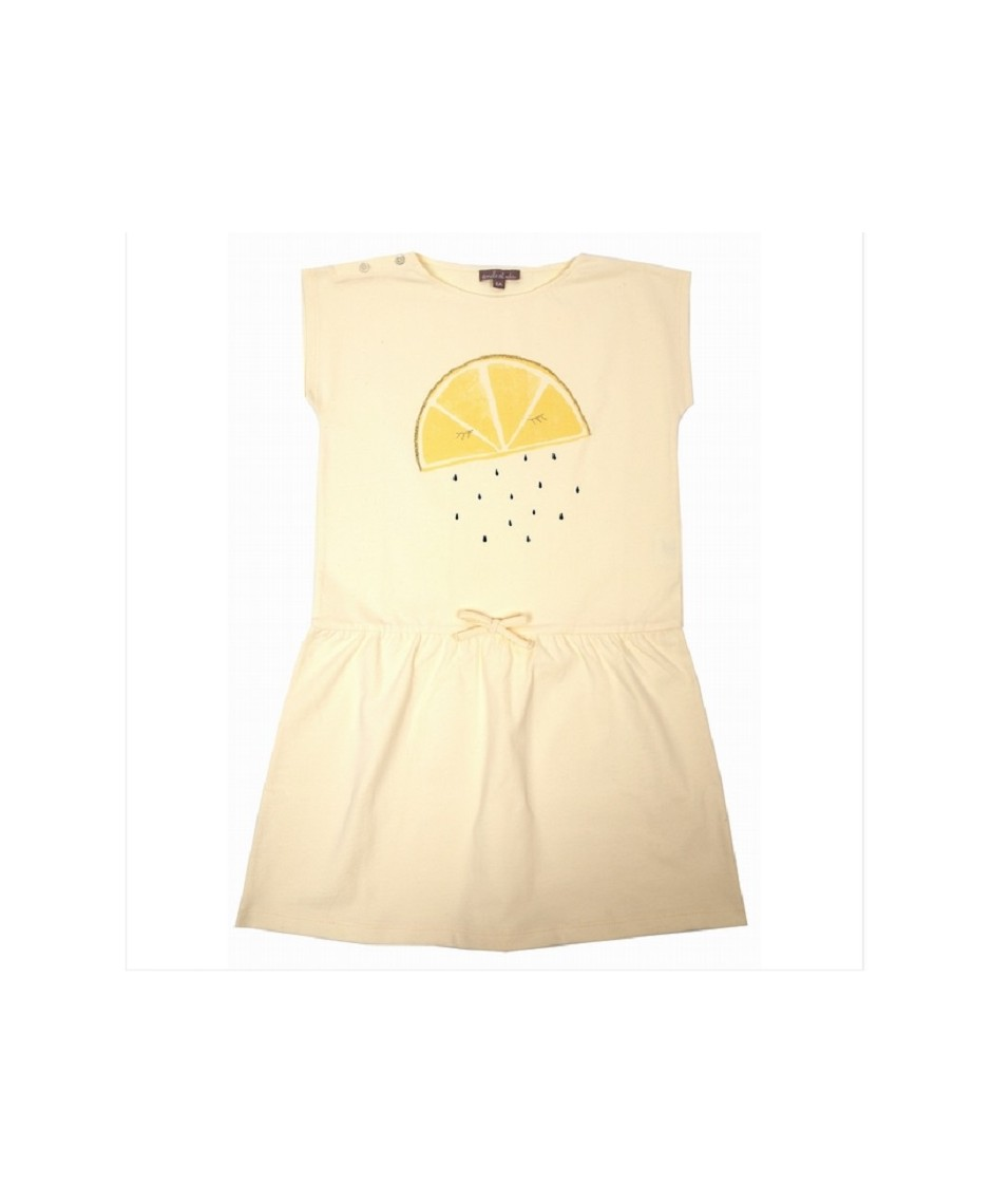 EMILE ET IDA DRESS BISCUIT CITRON