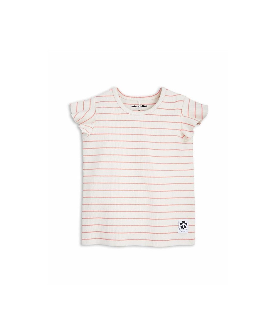 MINI RODINI STRIPED RIB TEE