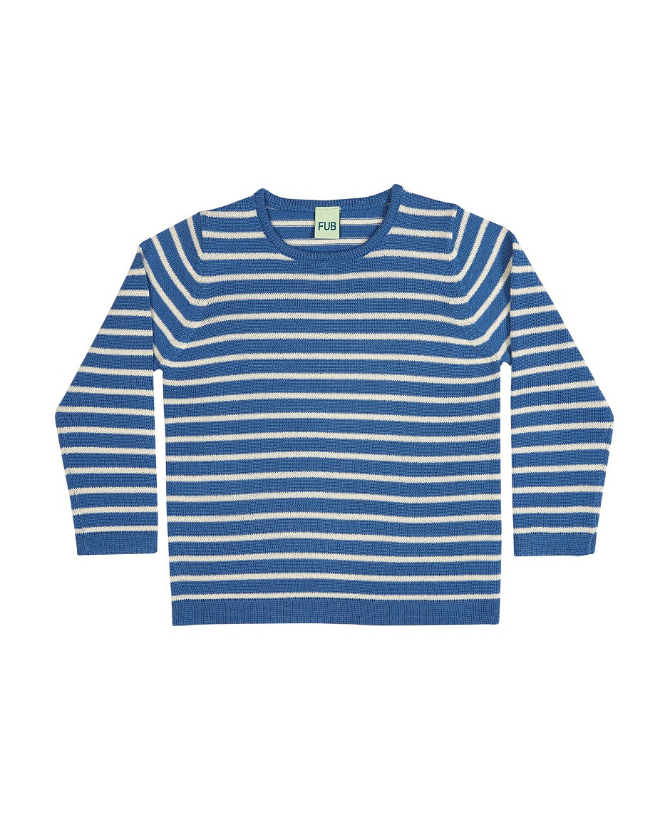 FUB SWEATER BLUE/ECRU