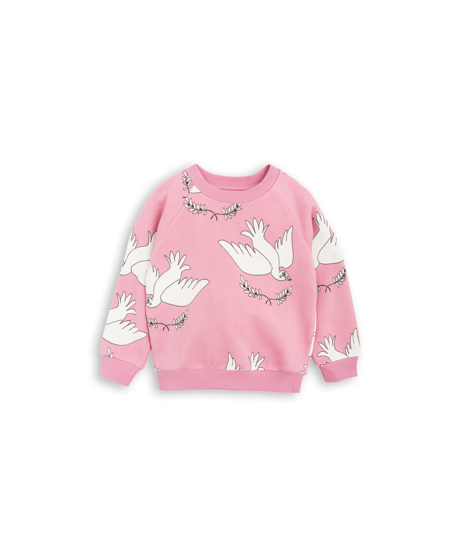 MINI RODINI SWEATSHIRT PEACE BABY PINK