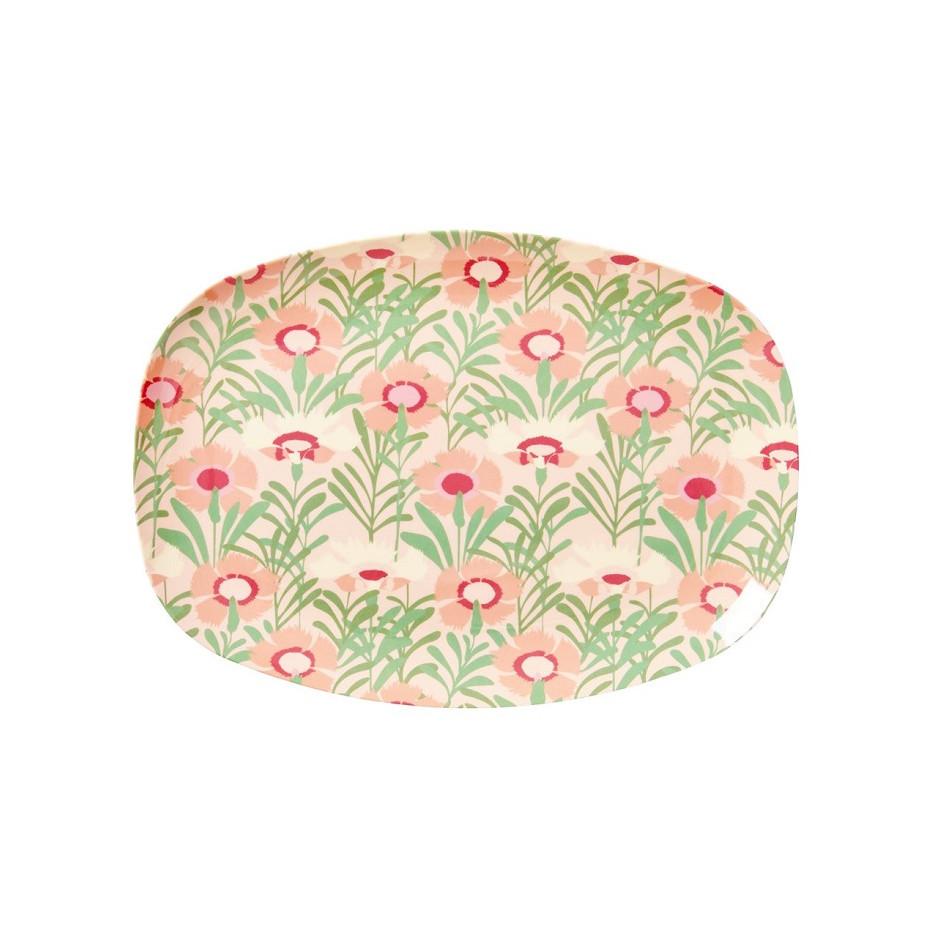 Rice rectangular melamine plate floral  sc 1 st  El Patio de tu Casa & Rice. People care - we care
