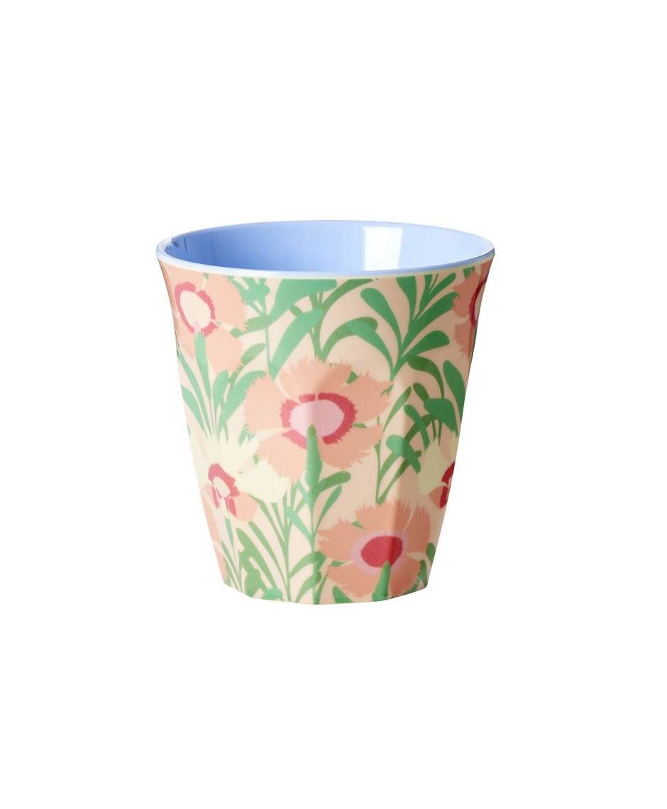 Rice melamine medium cup floral