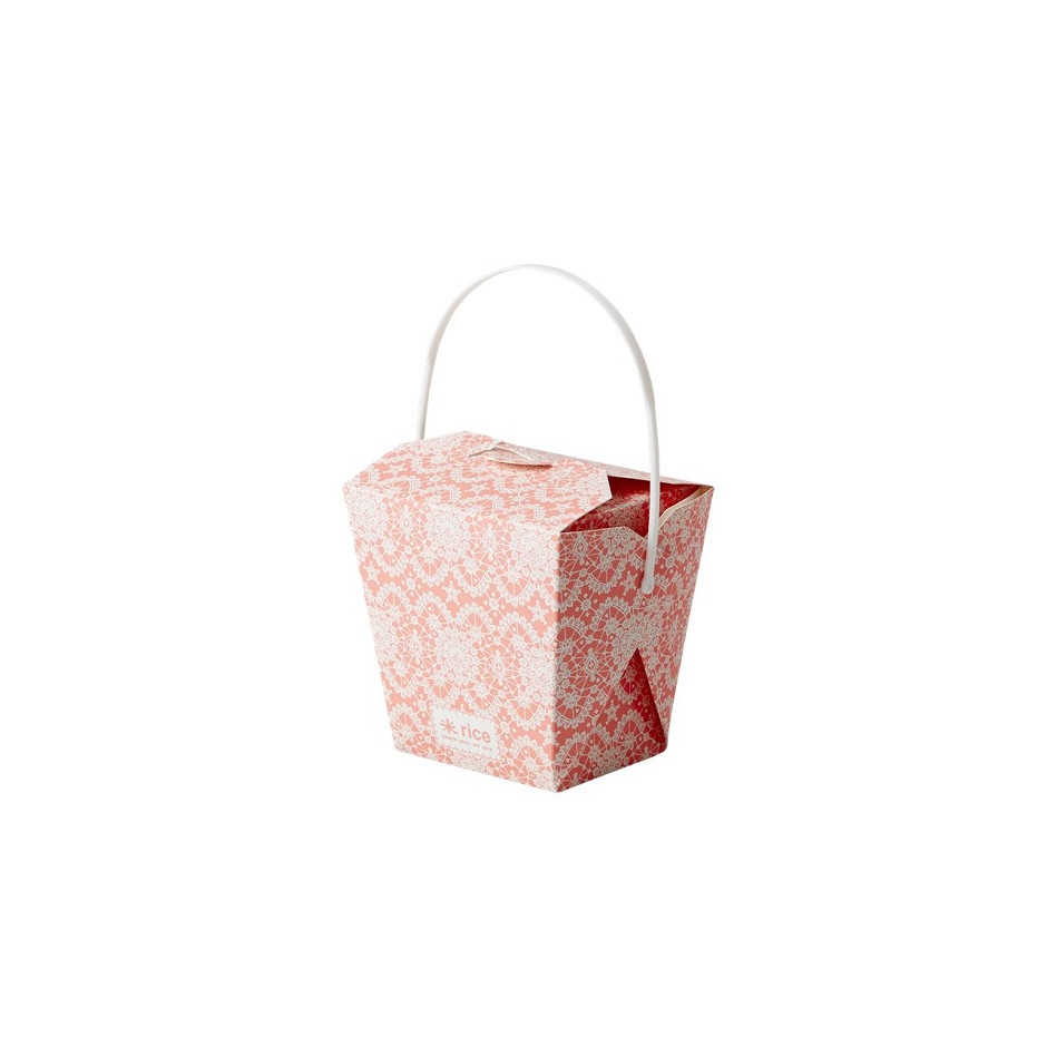 Rice paper box with lace chinese