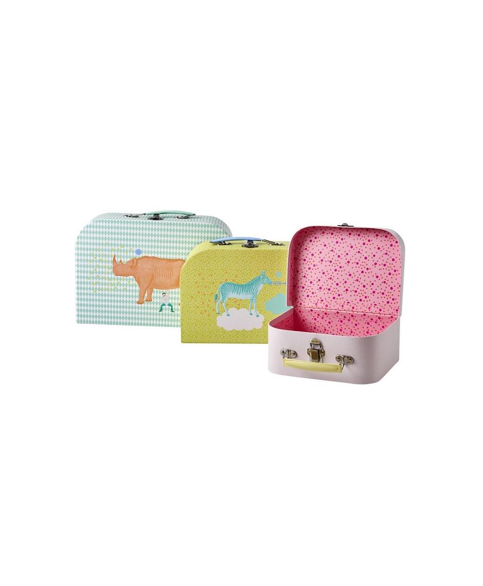 Rice cardboard suitcase set of 3
