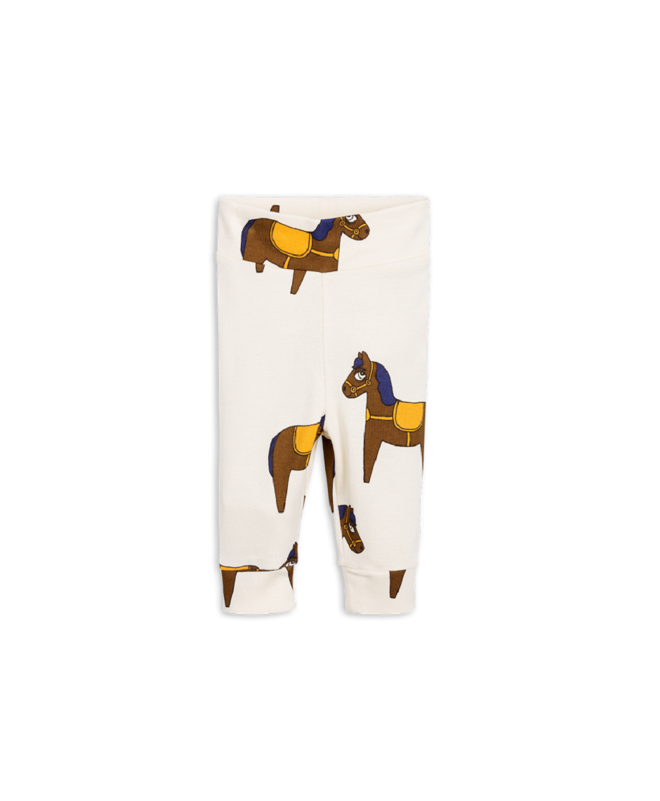 MINI RODINI LEGGINGS BABY HORSE YELLOW
