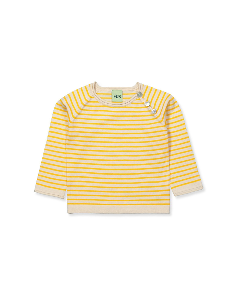 FUB BABY STRIPED BLOUSE ECRU/YELLOW