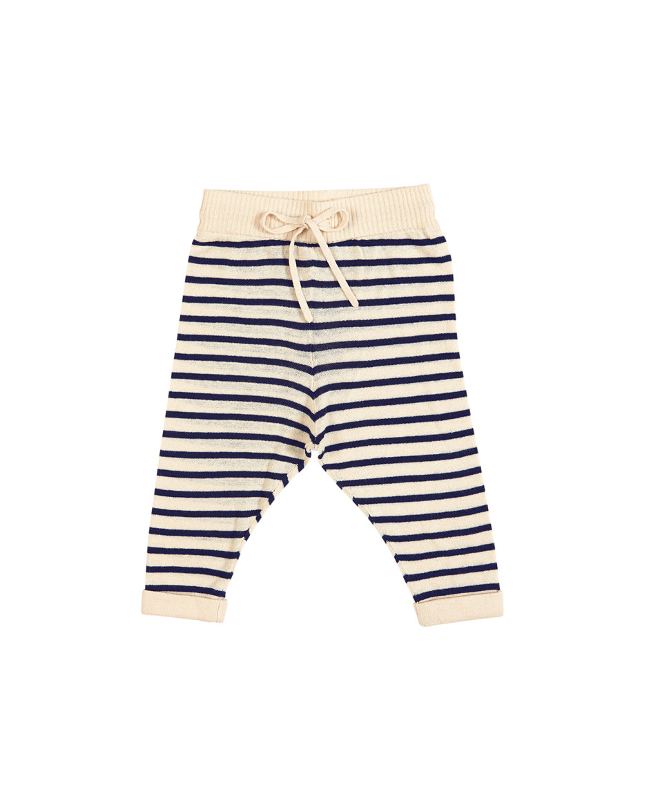 FUB BABY STRAIGHT PANTS ECRU/NAVY