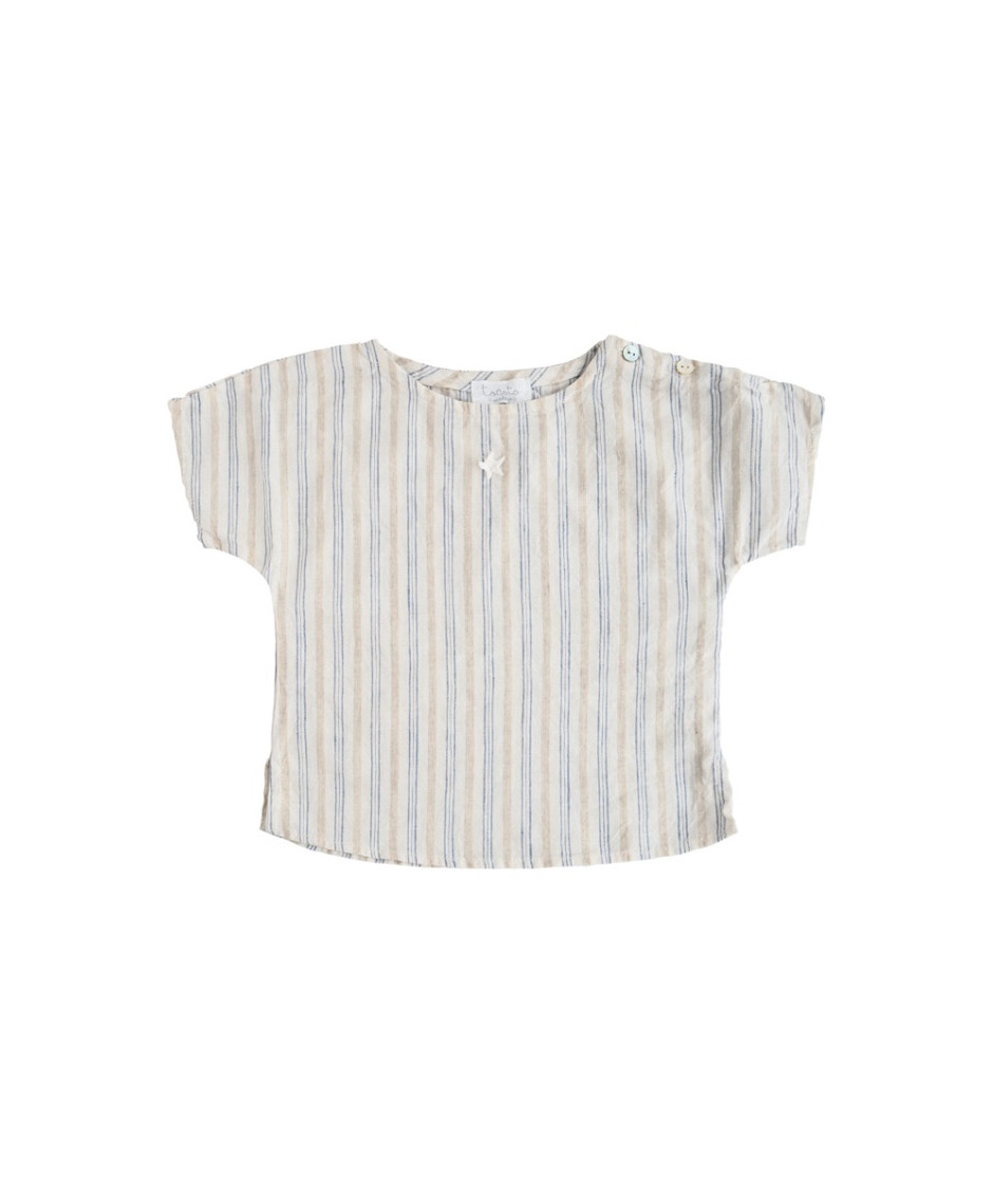 TOCOTO SHIRT STRIPES BLUE