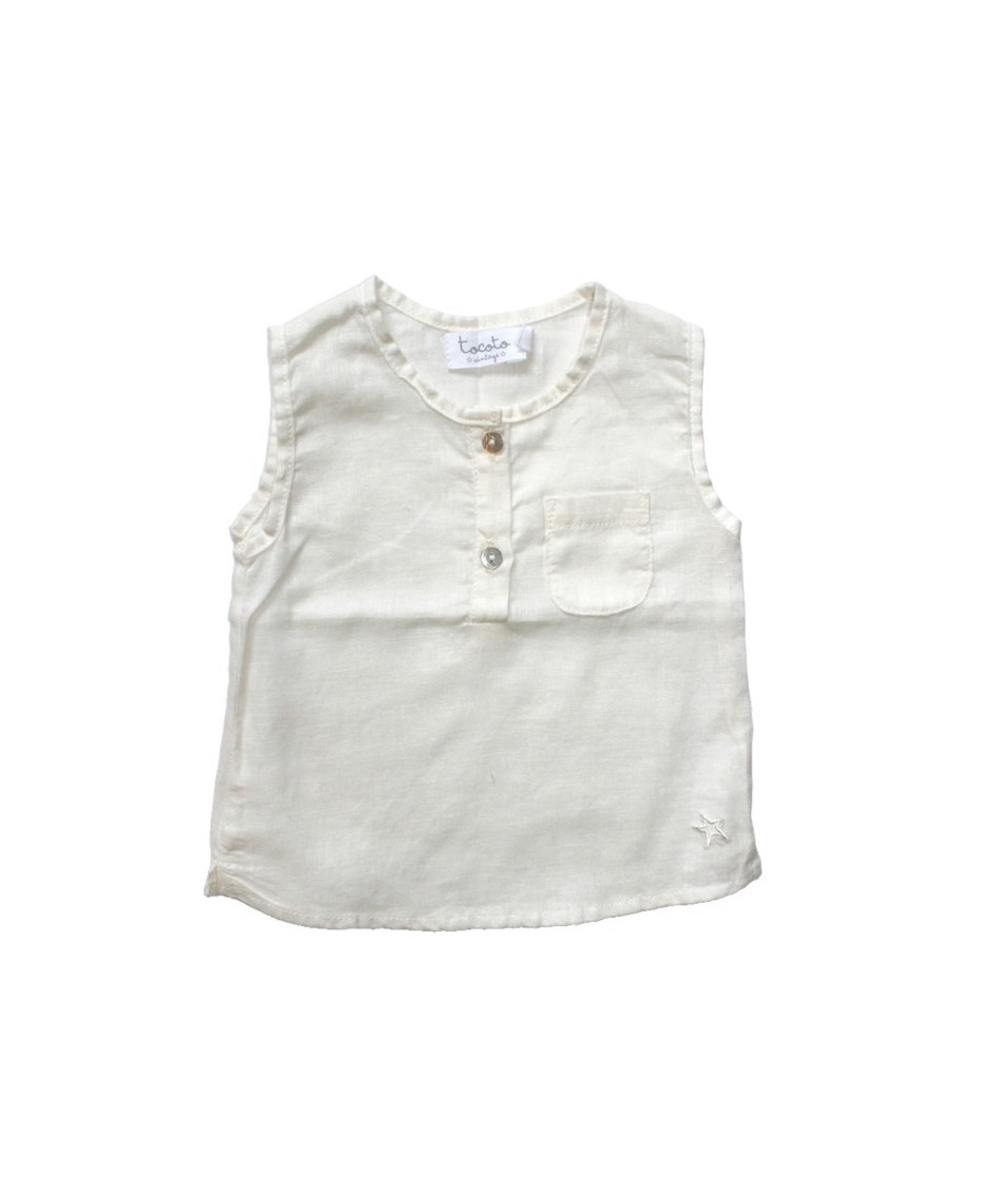 TOCOTO BLOUSE BABY OFF WHITE