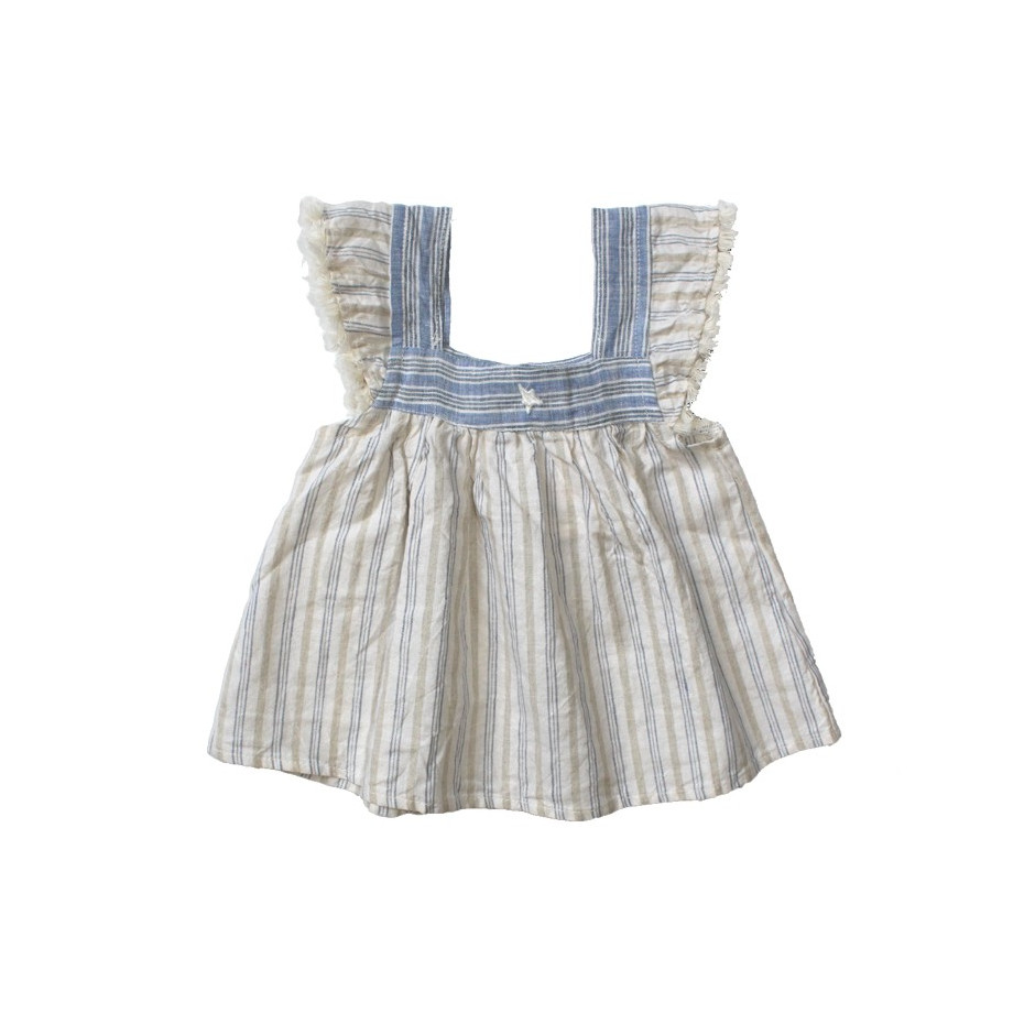 TOCOTO BABY SHORT DRESS BLUE