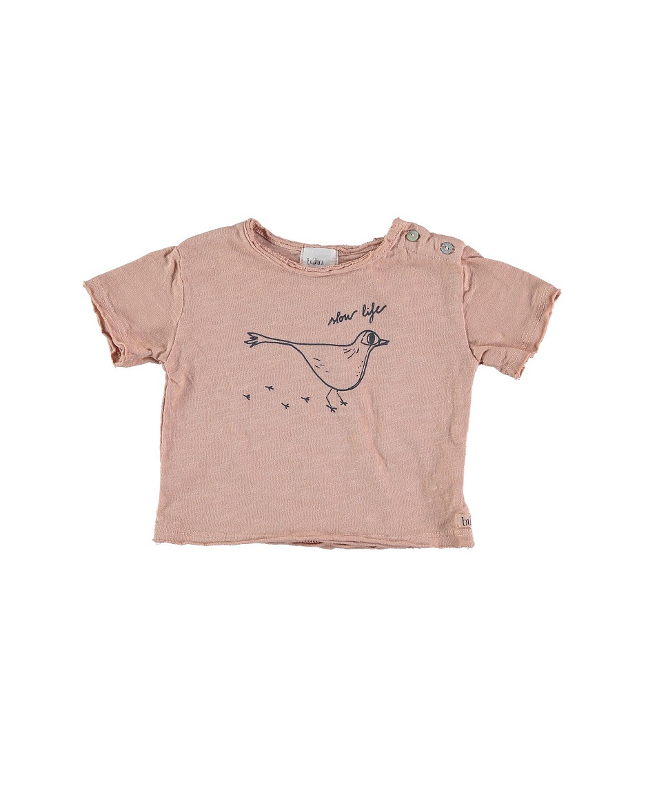 BUHO BCN T-SHIRT SLOW LIFE ROSE