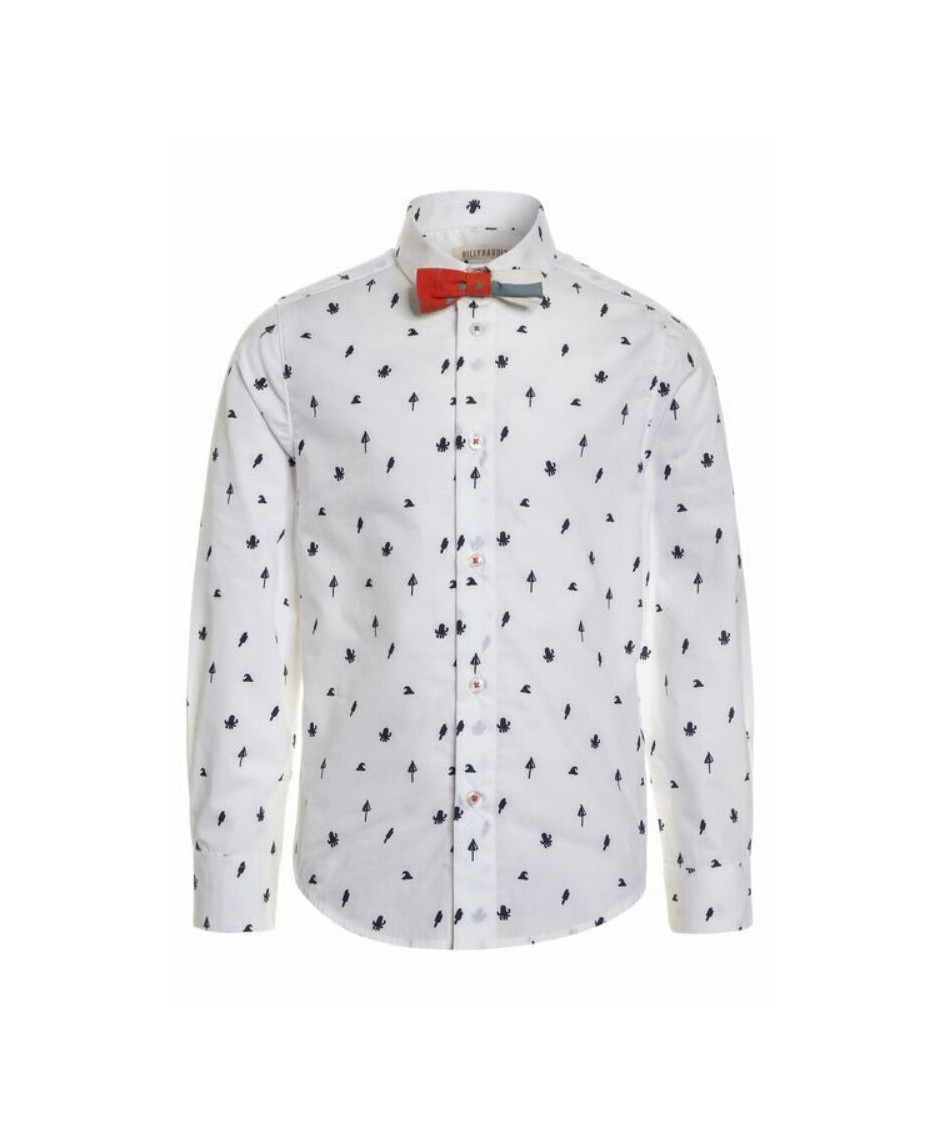 BILLYBANDIT SHIRT OCTOPUS WHITE