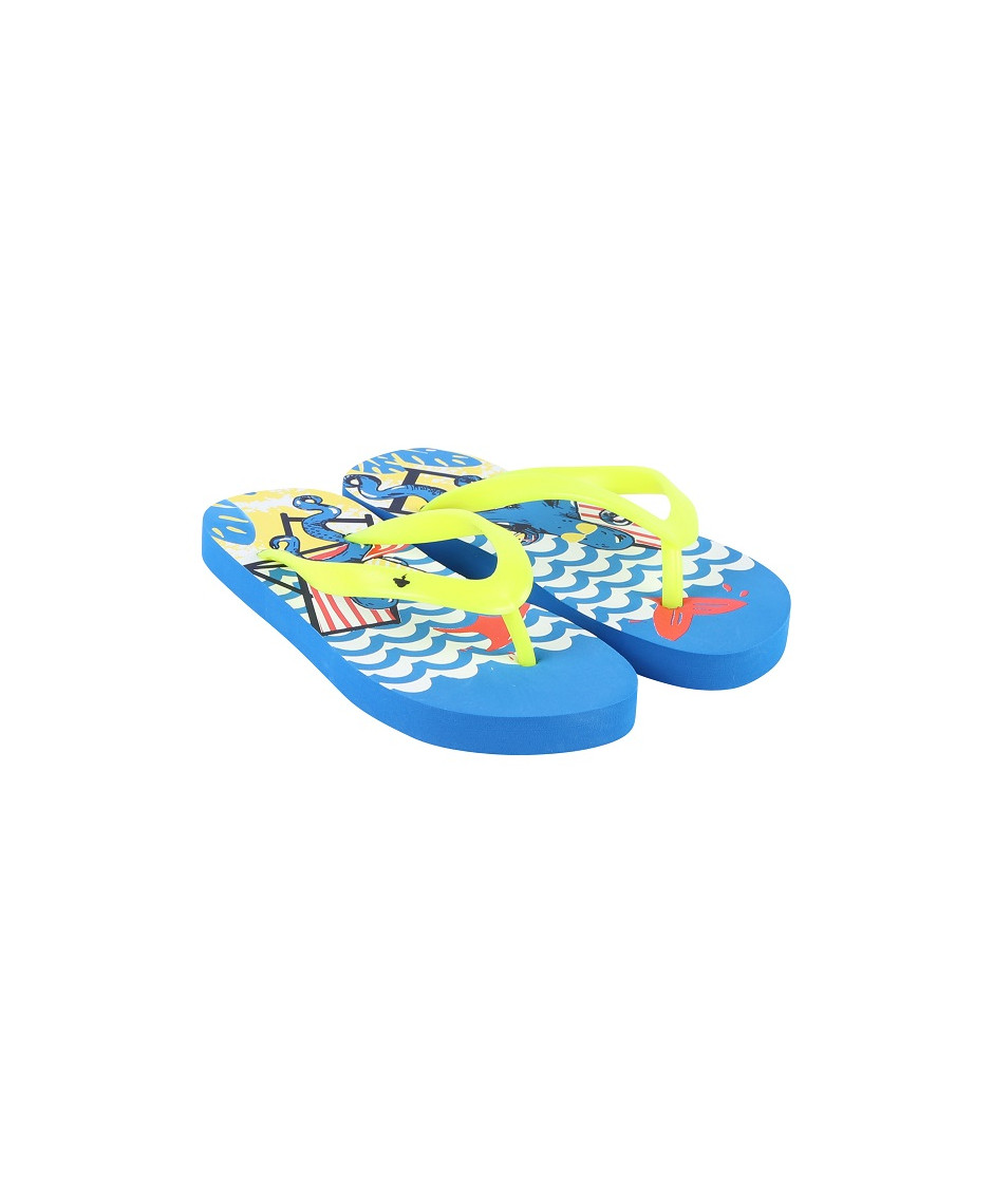 BILLYBANDIT FLIP FLOPS BLUE-YELLOW