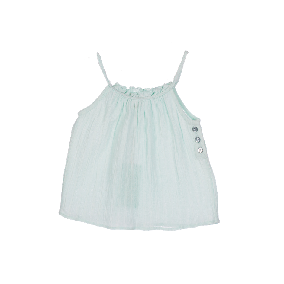 PLUMETI RAIN DRESS BABY LIGHT GREEN
