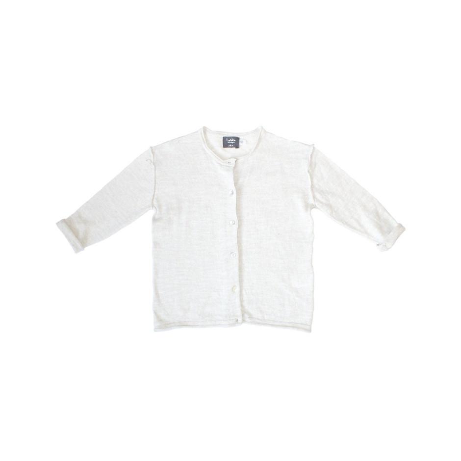 TOCOTO BASIC KNITTED CARDIGAN WHITE