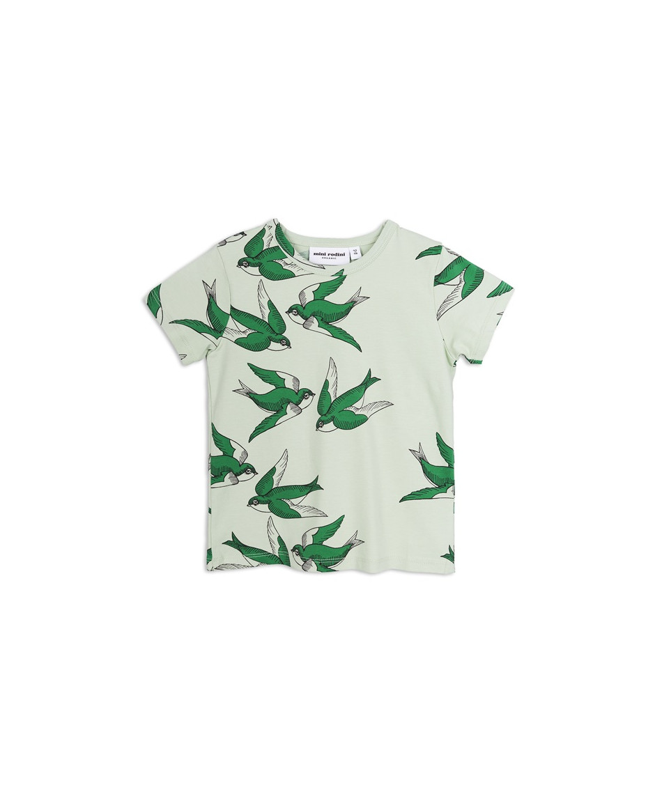 MINI RODINI T-SHIRT BABY SWALLOWS GREEN