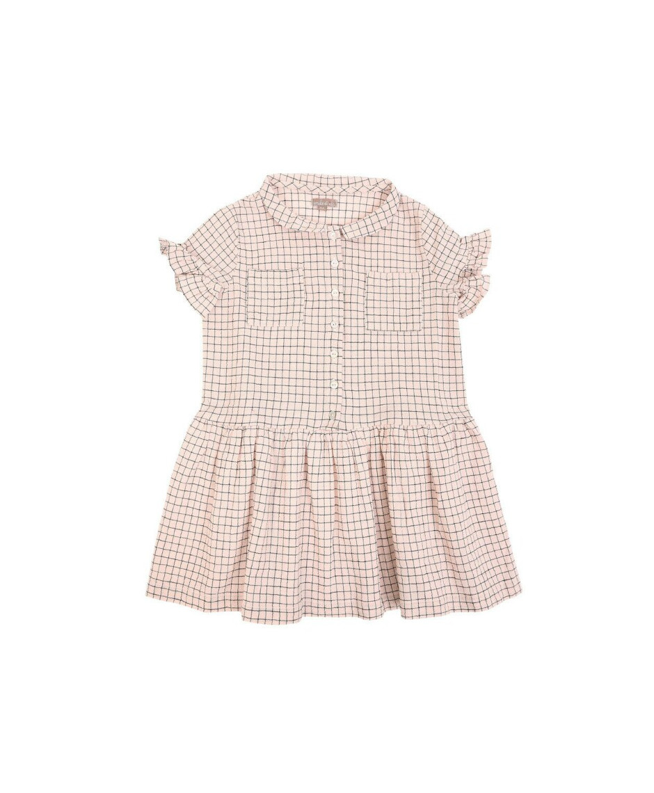 EMILE ET IDA DRESS ROSA CARREAUX