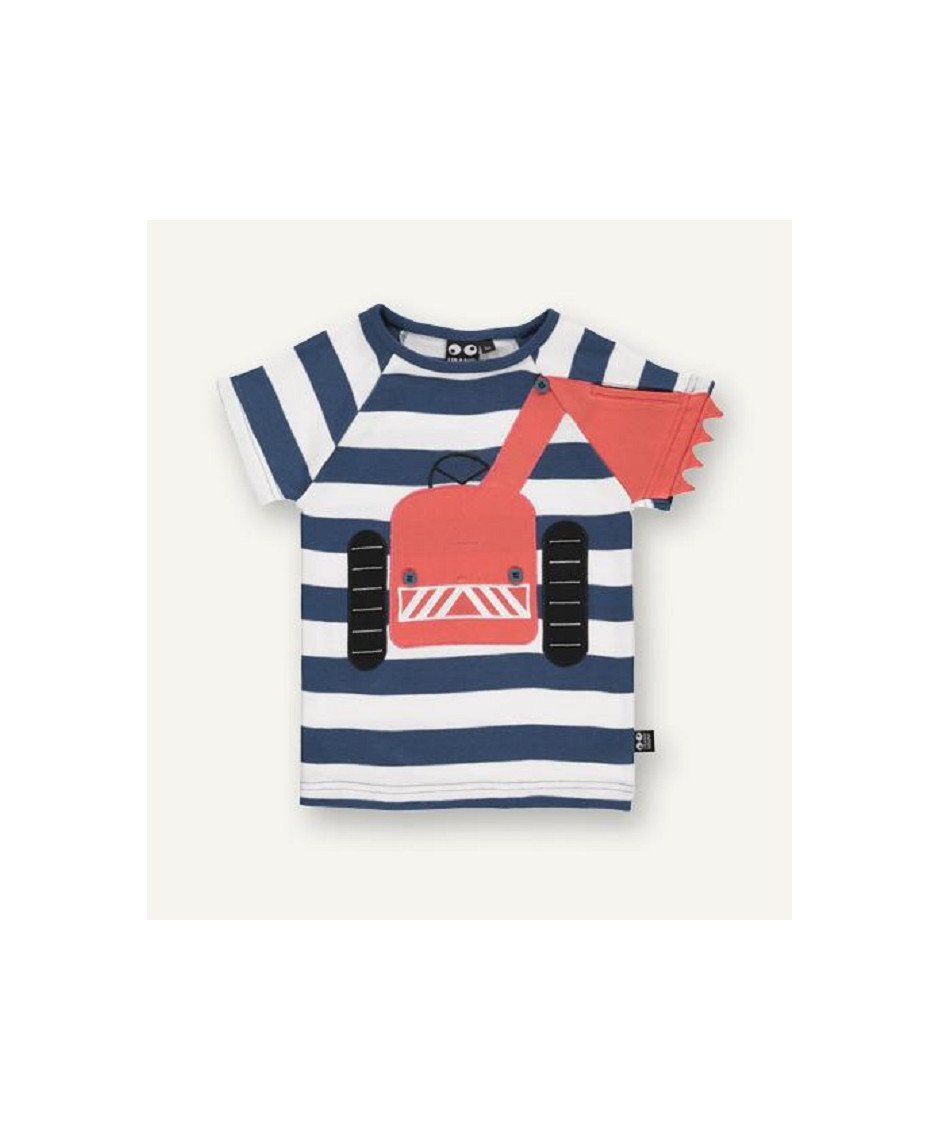 UBANG TEE BIG MACHINE STRIPE BLUE WHITE