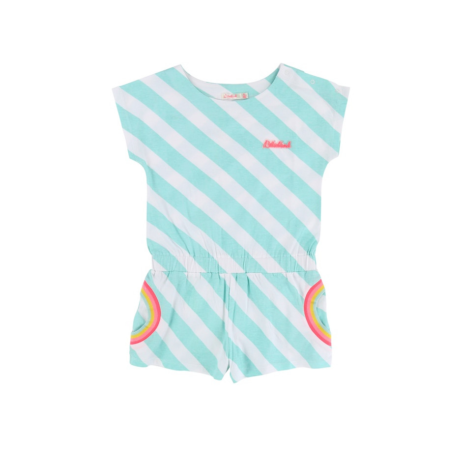 BILLIEBLUSH ROMPERS STRIPES GREEN WHITE