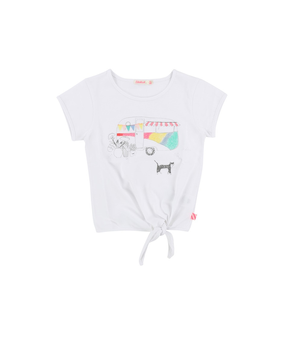 BILLIEBLUSH T-SHIRT CARAVAN WHITE