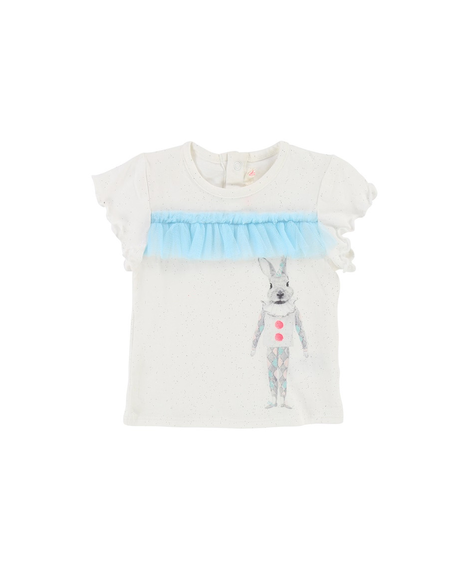 BILLIEBLUSH T-SHIRT RABBIT OFFWHITE