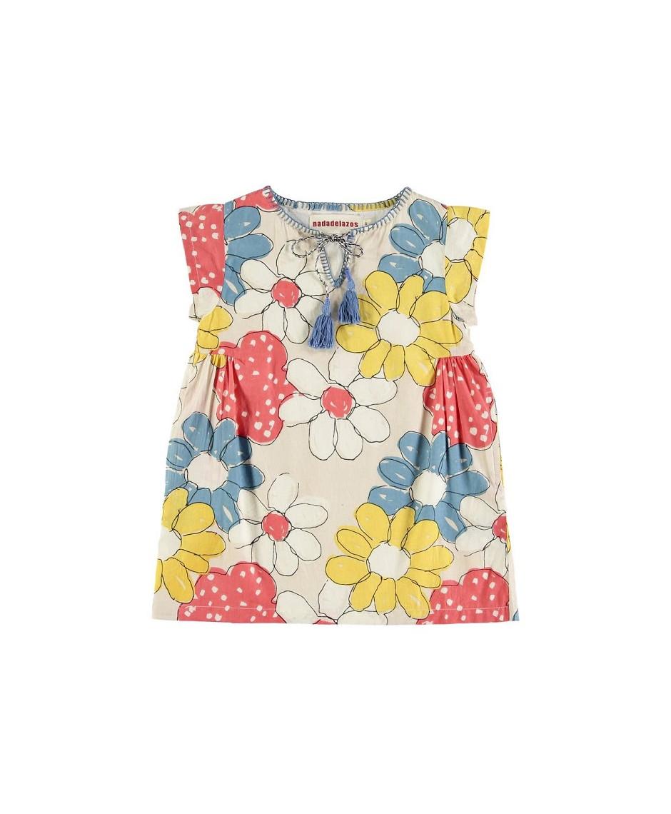 NADADELAZOS DRESS BABY FLOWERS