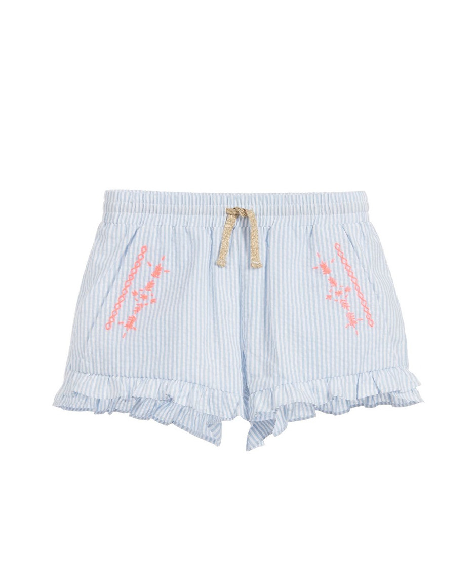BILLIEBLUSH SHORT STRIPES BLUE WHITE