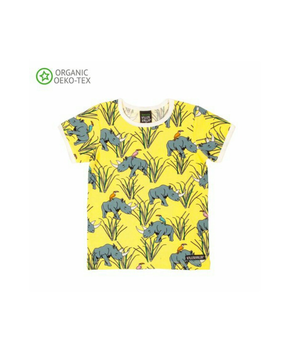 VILLERVALLA T-SHIRT RHINO YELLOW