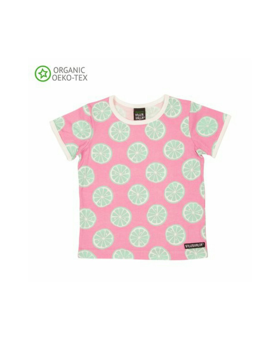VILLERVALLA T-SHIRT WOMAN LIME PINK