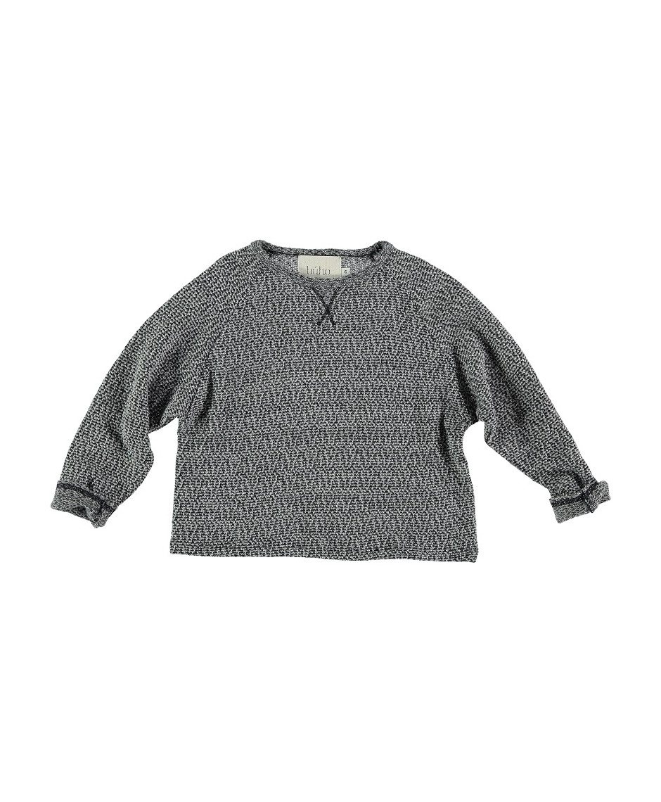 BÚHO BCN SWEATER GREY WHITE