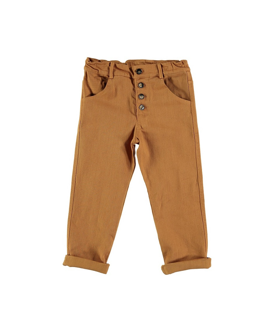 BÚHO BCN PANT BUTTONED BISCUIT