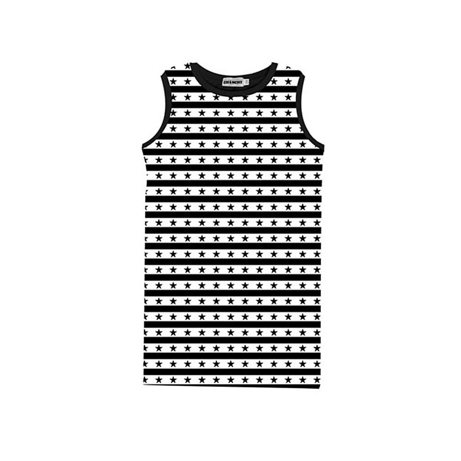 CHINCHE DRESS STARS BLACK WHITE