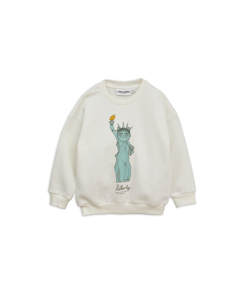 MINI RODINI SWEATSHIRT LIBERTY WHITE