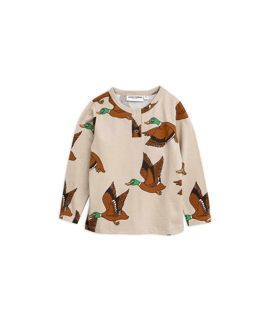 MINI RODINI T-SHIRT DUCKS BEIGE