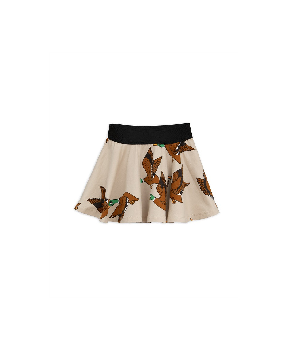MINI RODINI SKIRT DUCKS BEIGE