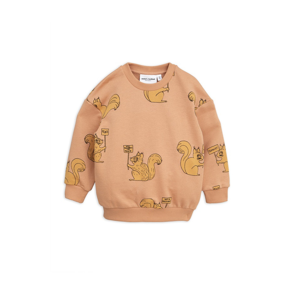MINI RODINI SWEATSHIRT SQUIRREL BEIGE