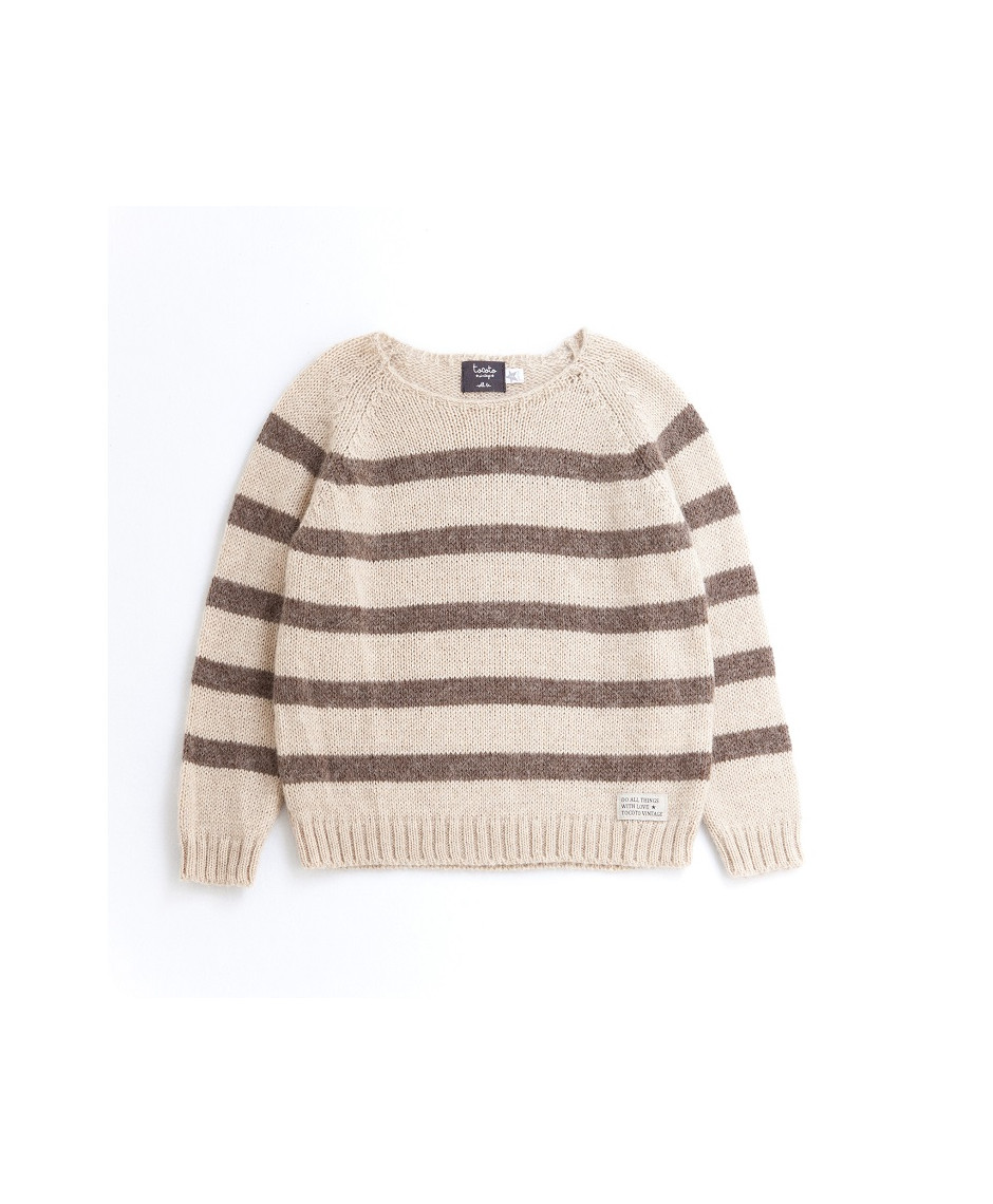 TOCOTO SWEATER BABY BROWN BEIGE