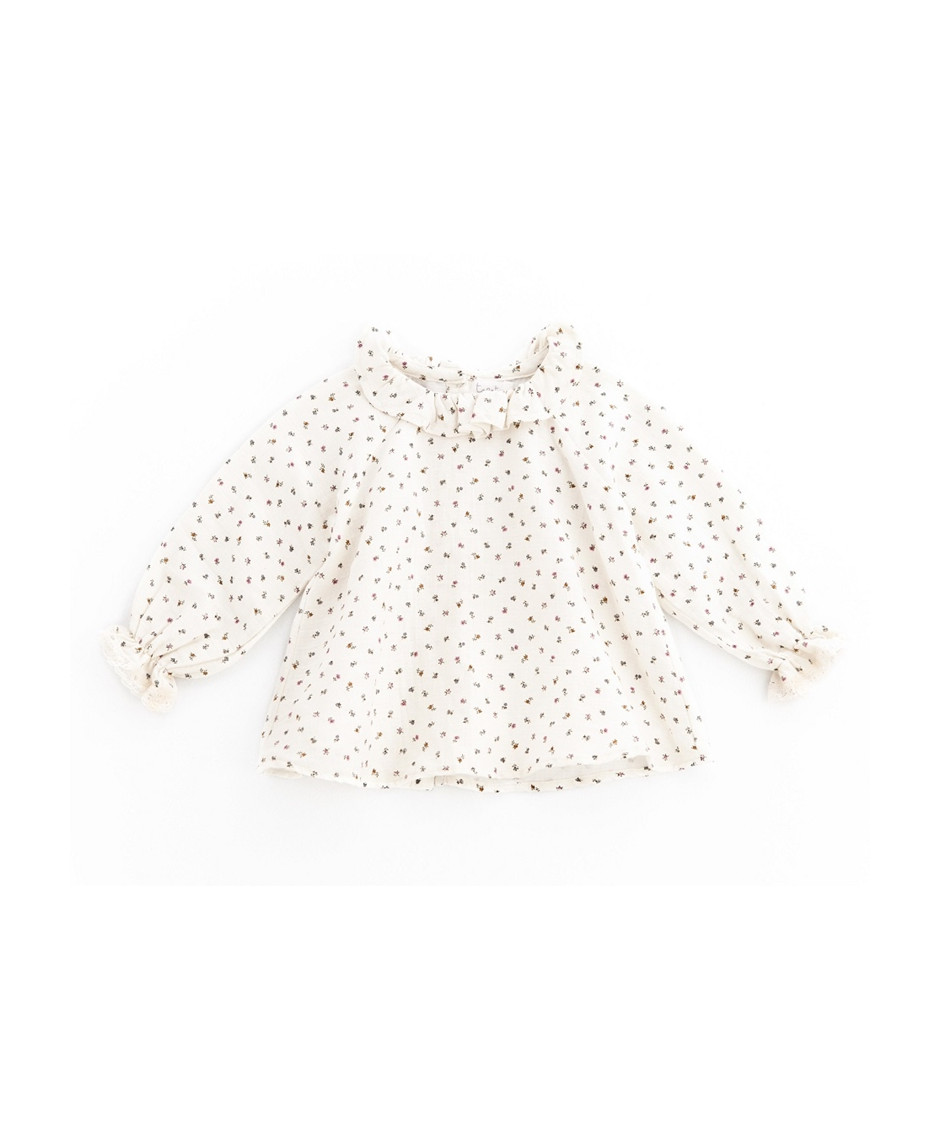 TOCOTO BLOUSE FLOWERS BEIGE